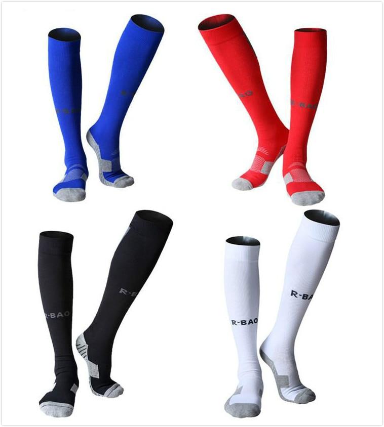f06fd9c0945 R BAO Professional Men Soccer Socks Knee High Compression Sock For Hiking Running  Marathon Football Cycling Sport Socks-in Men s Costumes from Novelty ...