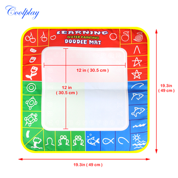 1 Pcs 49X48cm 3 color Magic Water Drawing Mat with 1 Magie pen for kids 1326 1