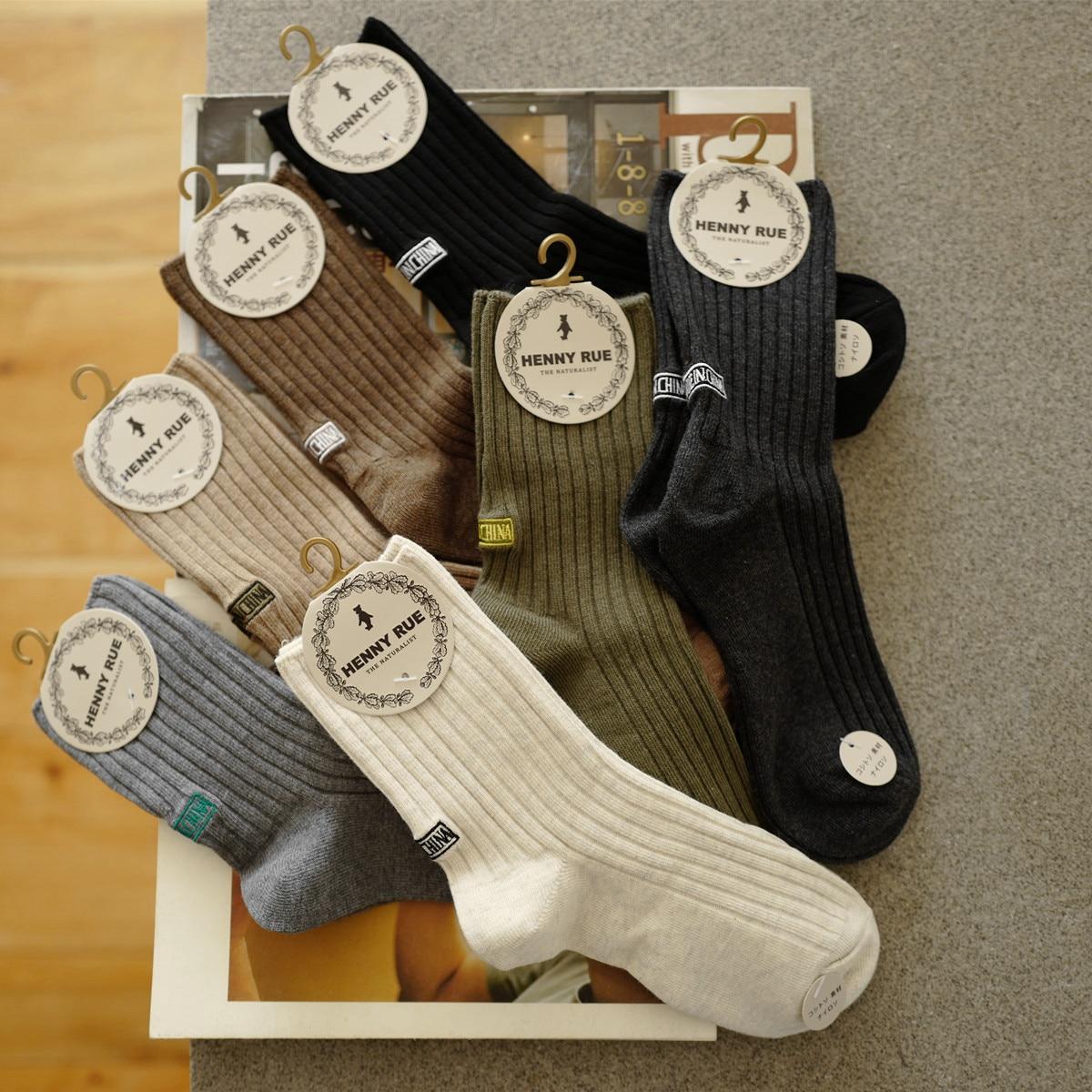 Moda de alta qualidade macio preto branco calcanhar bordado algodão pilha homens mulheres heap meias recomendar