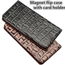 QX07 Genuine leather magnet flip case with card slot for Blackberry Key2 phone case for Blackberry Key2 phone bag free shipping