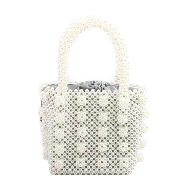 Portefeuille magique perle sac à main creux soirée pochettes pour femmes 2019 perles sac à main sacs à main à la main sac fourre-tout bolsa feminina
