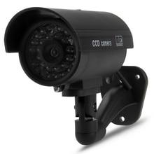 цена на Dummy Surveillance Camera Bullet Camera with IR LEDs Fake Simulation CCTV Security Camera