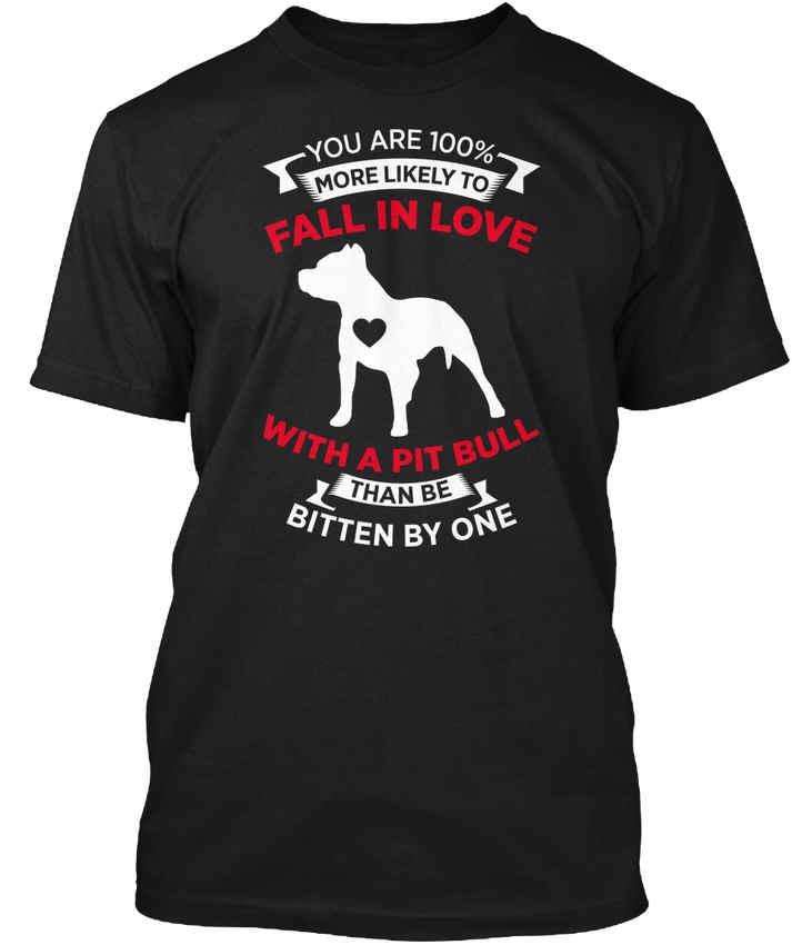 Лето 2018 плюс Размеры Дизайн влюбиться в Питбулем MP экипажа шеи с коротким рукавом мужские футболки