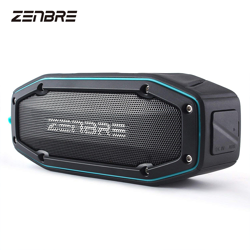 Bluetooth Speakers V4.1, ZENBRE D6 10W Portable Speakers with IPX6 Waterproof Shockproof, Up to 18h Play-time, Super Loud Sound