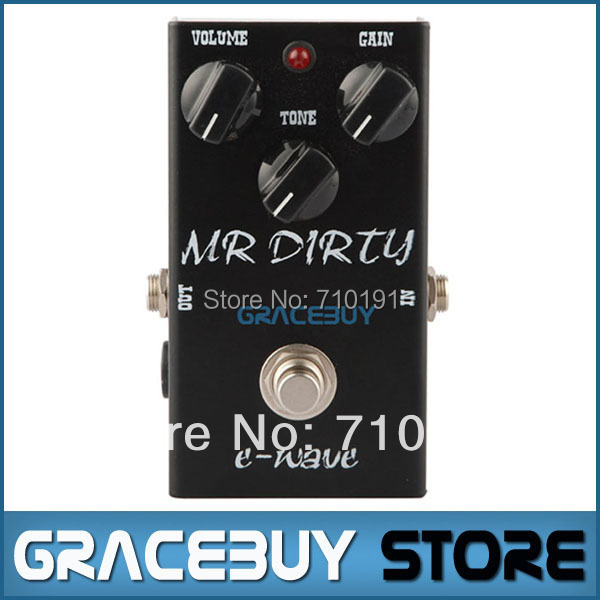 E-WAVE Electric Guitar Bass Effect MR DIRTY DISTORTION Pedal True Bypass Musical Instrument proco sound you dirty rat distortion guitar effect pedals