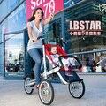 Alto grado de deformación cochecito doble suspensión tres rondas de paisaje alta niños bebé tranvía