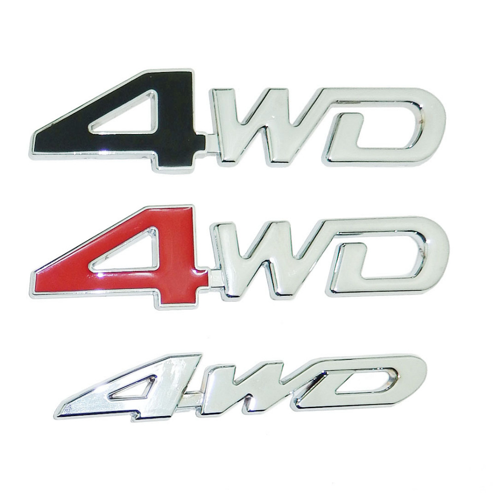 4WD Four Wheel Drive Rear Trunk Emblem Badge Logo Sticker SUV For Ford Toyota Honda CR V RAV4 Jeep Mitsubishi Car Styling In Stickers From Automobiles