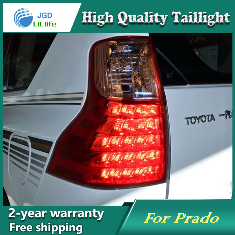 Car Styling Tail Lamp for Toyota Prado 2011 2012 2013 Tail Lights LED Tail Light Rear Lamp LED DRL+Brake+Park+Signal Stop Lamp stainless steel strips for toyota highlander 2011 2012 2013 car styling full window trim decoration oem 16 8