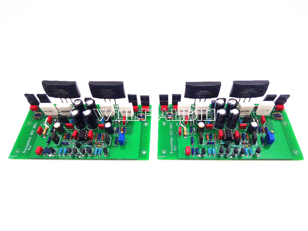 One Pair Assembled 2SA1295 2SC3264 Power Amplifier Board Base On Burmester 933 circuit Two Channels