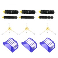 Practical 3pcs Corner Cleaning Robots Replacement Brush 3pcs Cleaner Filter 3pcs Rolling Brush Kit For Roomba