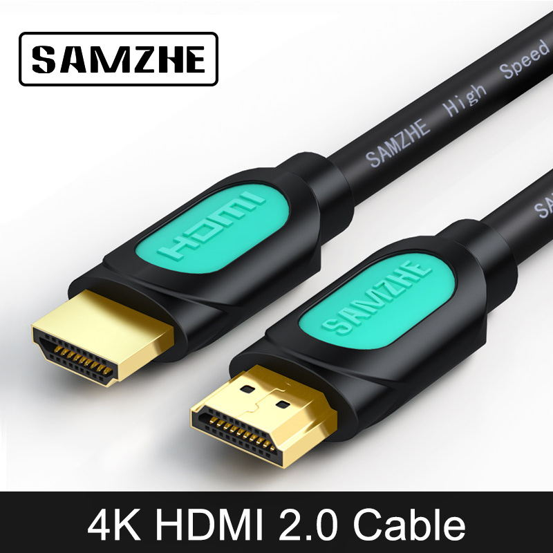 SAMZHE 4K HDMI 2.0 Cable 3D 60FPS AV Cable for HD TV LCD Projector Computer Apple TV PS 3/4 TV-BOX Displayer Screen