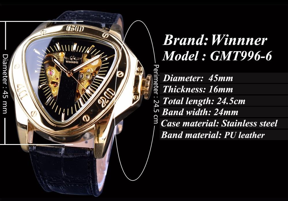 HTB1GTdih TI8KJjSsphq6AFppXaQ Winner Steampunk Fashion Triangle Golden Skeleton Movement Mysterious Men Automatic Mechanical Wrist Watches Top Brand Luxury