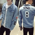2016 Autumn vintage denim jacket male slim denim coat the trend of thin outerwear jeans