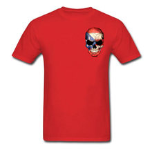8046cd45 Red New Style Tee-Shirts Puerto Rican Flag Skull Youth Punk T Shirt On Sale  Cool Fashion Big Size Leisure Tops T Shirts 3XL/Tall
