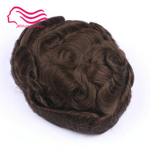 Image 3 - 100% human  remy hair men toupee , Australia brand, french lace with skin around .  hair replacement,hair   men toupee in stock