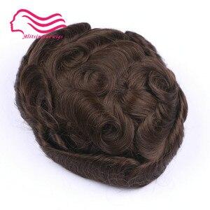 Image 3 - 100% 인간 remy 머리 남자 toupee, 호주 상표, 주변에 피부를 가진 프랑스 레이스. 머리 보충, 주식에 있는 머리 남자 toupee