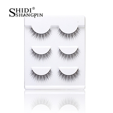 3 Pairs New Women Training Lashes Beginner Eye Makeup Tools Extension 11mm New Learn Faux Eye Lashes with Beauty Ladies Black