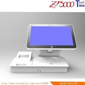 2020 Горячая Распродажа Новый запас 15,6-дюймовый I5 CPU 8g ram 128G SSD встроенный 58 мм принтер все в одном Pos терминал