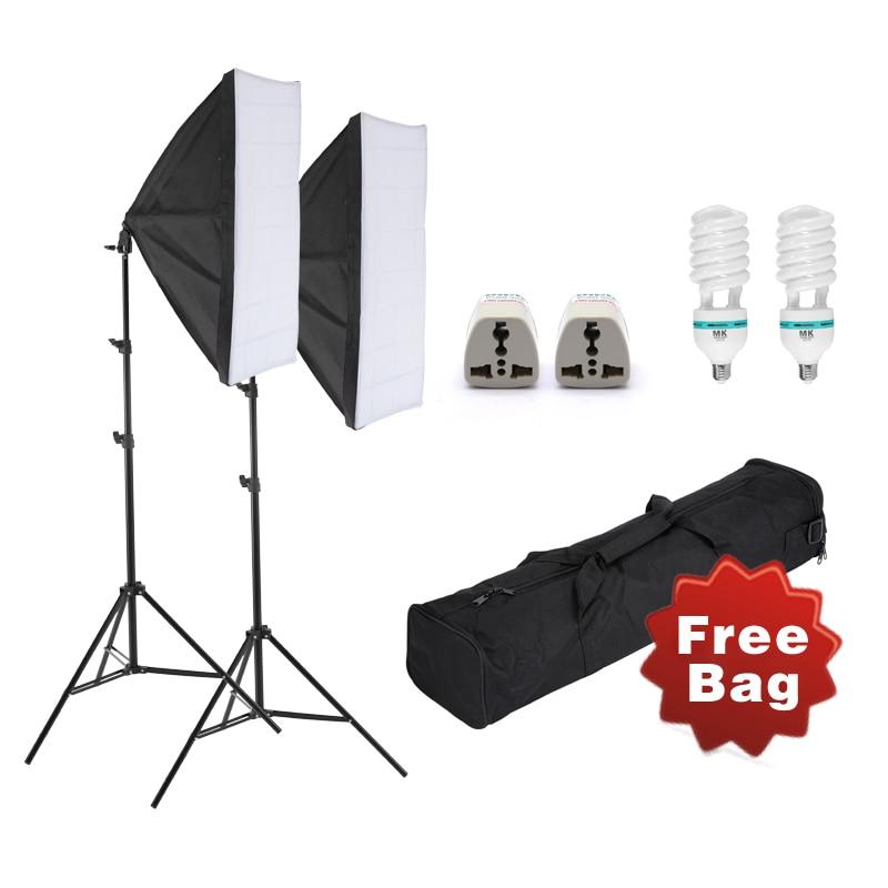Selens Photo Studio Softbox Kit Photographic Lighting Kit Camera & Photo Accessories 2 light stand 2 softbox for Camera Photo цена 2017