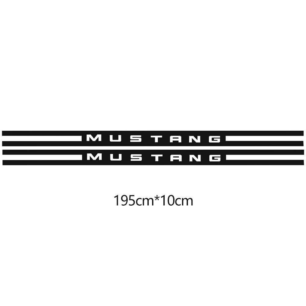 Voiture style rallye Kit course rayures vinyle décalcomanie graphique carrosserie porte côté jupe autocollants pour Ford Mustang 2015-2019 accessoires