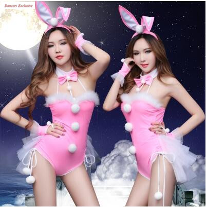 Bodysuit Women Nightclub Mid-Autumn Festival Bunny Girl role play sexy dj female Singer bar performance Sexy jazz dance costumes
