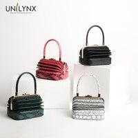 Знаменитые бренды аккордеон известные бренды Роскошные змеиные кожаные сумки женская сумка женские портативные сумки из органной кожи