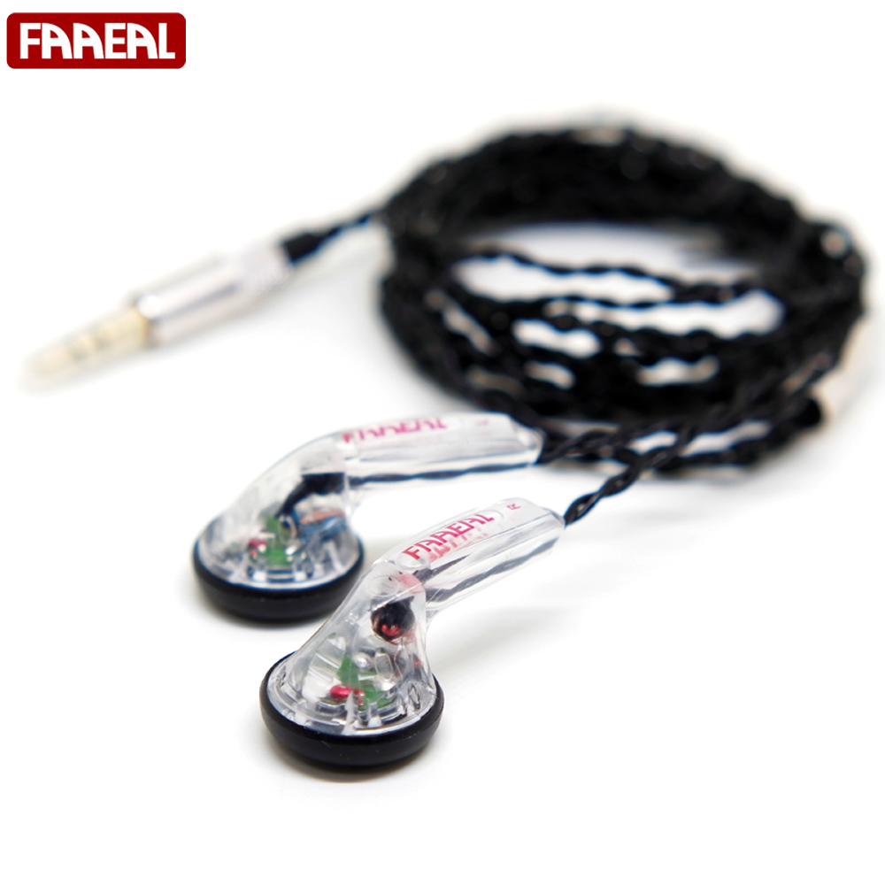 все цены на FAAEAL Snow-lotus 1.0/1.0+ HiFi Earphone 64 Ohm DIY Heavy Bass Sound Quality Music Earphones DJ Earphones DIY MX500 онлайн