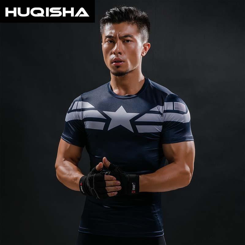 Captain America T-shirt 3D gedrukt T-shirts Mannen Avengers iron man - Herenkleding