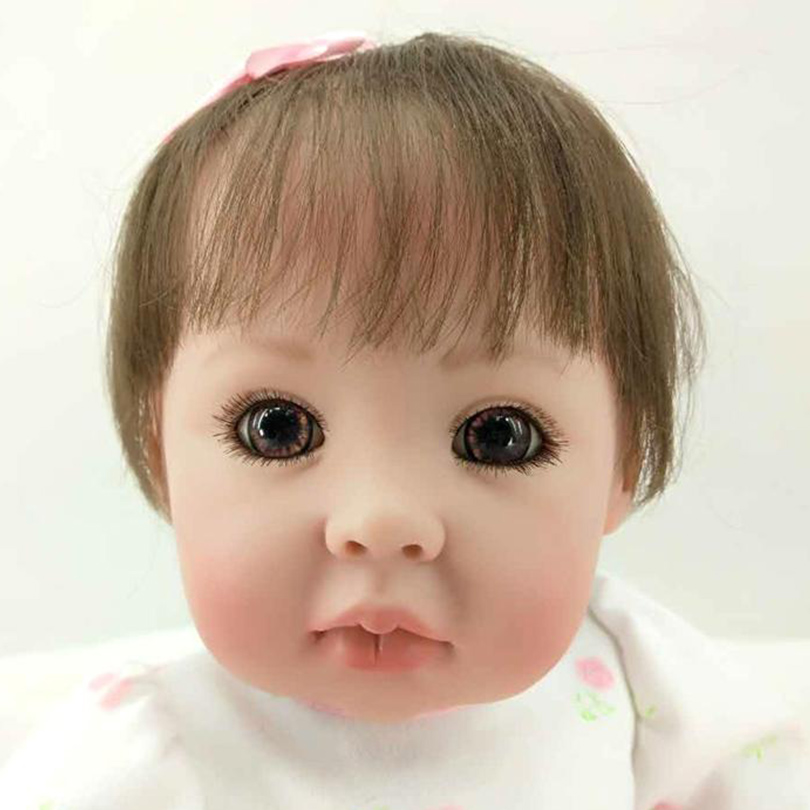 Fake Baby Silicone Cotton Body Doll Reborn Babies Soft Interactive Chinese Dolls Body Alive Surprise Princess Doll for Girl Sale adorable soft cloth body silicone reborn toddler princess girl baby alive doll toys with strap denim skirts pink headband dolls