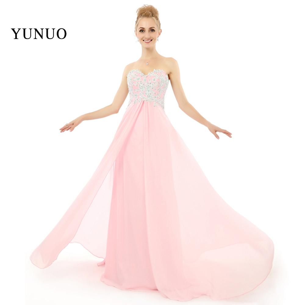 1b412a740 Glamorous Encaje Appliques sin mangas piso-longitud sweetheart elegante  Vestidos de noche largo Rosa chiffion mujeres vestidos x08264