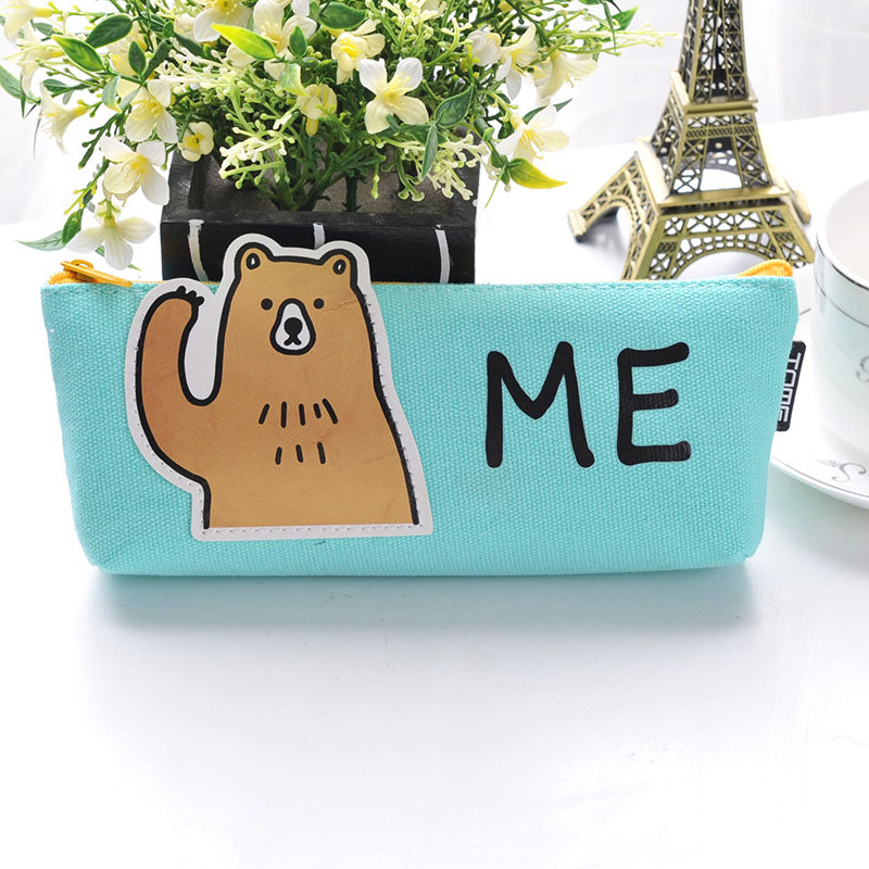 Cute Animal Pencil Case Stationery Gift Pencil Box Pen Bag Case School Office Supplies TB Sale