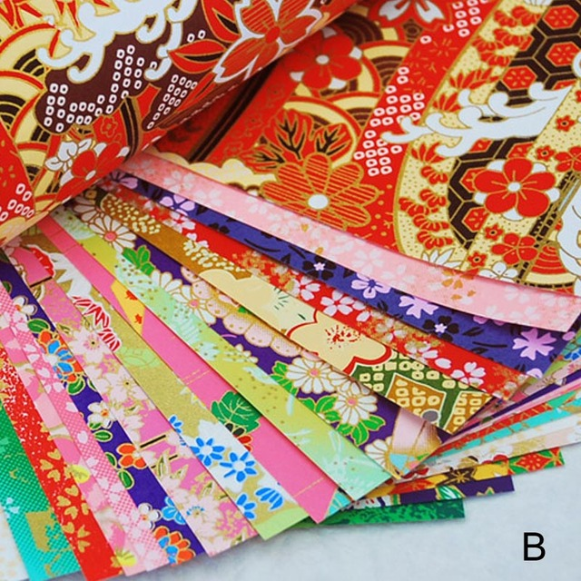 Handmade Materials  Gold Lines Paper Crane Gift Packaging Materials Origami Paper  Flower  Square Scrapbook Papers