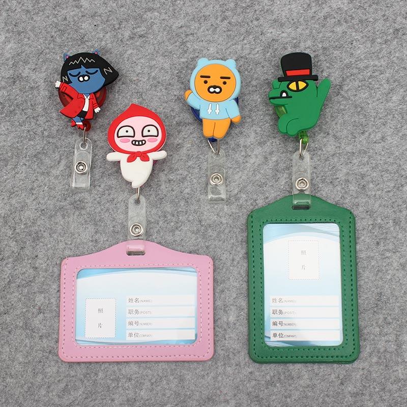 Colors Cute Animals Retractable Badge Holder Clip Id Card Holder Cartoo Porta Badge Reel Name Badge  Business Card Badge Holder