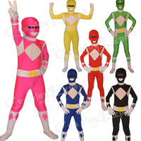 Free Shipping Cheap Wholesale 6 Colors Full Body Superhero Lycra Zentai Kids Outfits Halloween Costume KC2013