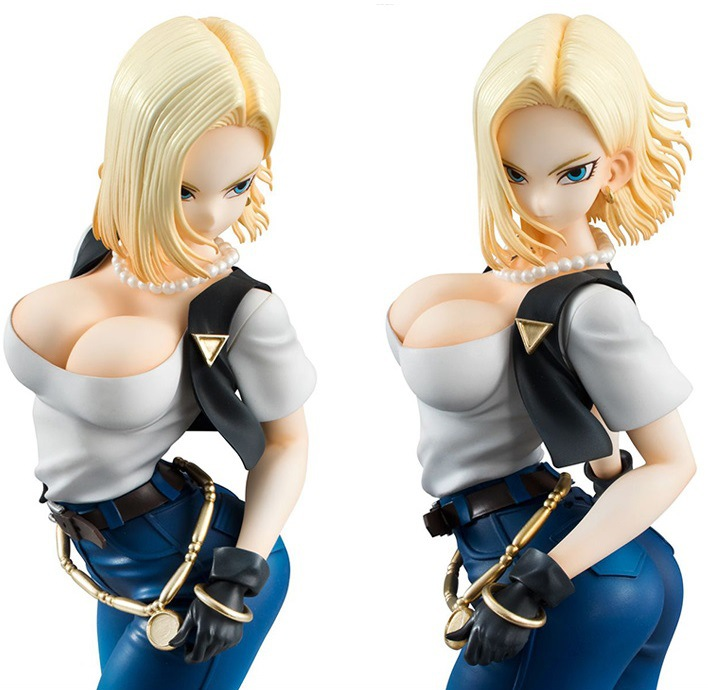 NEW Hot 20cm Dragon Ball Sexy Android 18 Lazuli Action Figure Toys Collection Doll Christmas Gift With Box 2dai