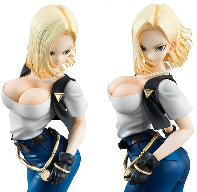 New Hot 20Cm Dragon Ball Sexy Android 18 Lazuli Action Figure Toys Collection Doll -7615