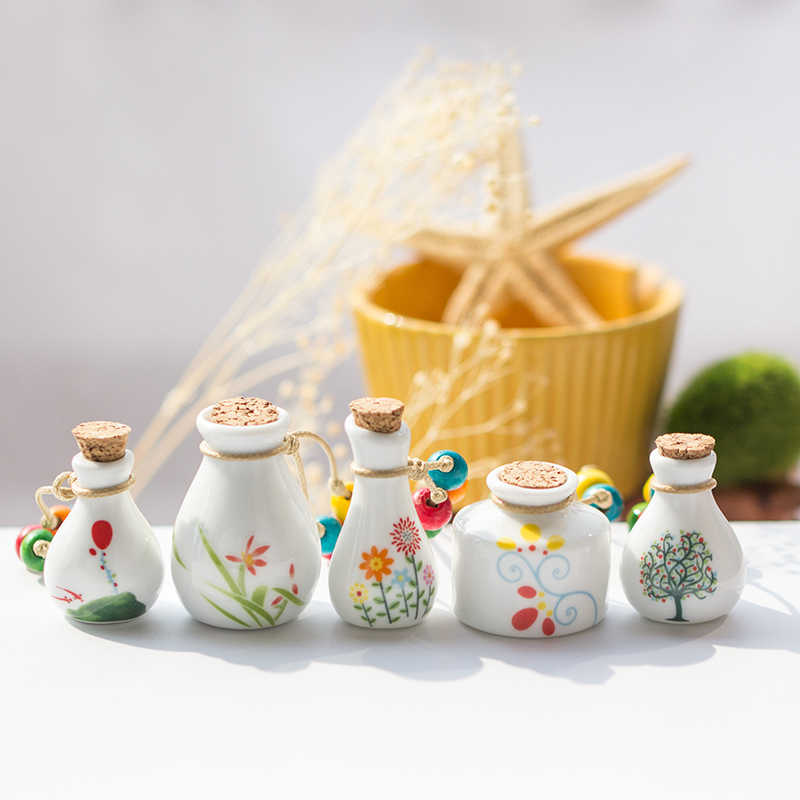 Cute perfume bottle necklace women's ceramic classic necklaces & Pendants DIY handmade necklace for women Gift #1199