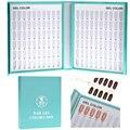 1Pcs Pro Salon 120 Colors Nail Art Gel Polish Tips Form Stick Card Book Gel Polish Showing Display Chart Blank Manicure Tool