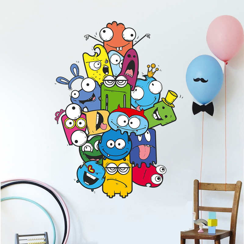 Funny Animal Cartoon Sticker House Furniture Party Decorations Home Decorators Decor Kids Nursery Childrens Wall Art Stickers In From