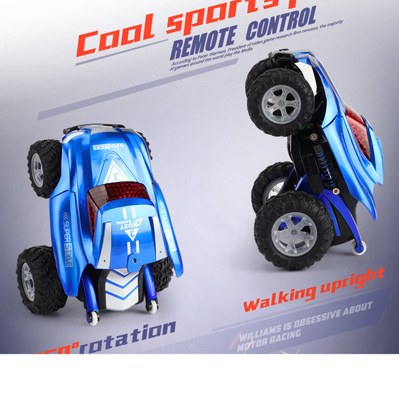 RC voiture 2.4G 4CH sans fil Flip Stunt voiture dérive quatre roues équilibre 360 degrés Rotation enfants Robot télécommande jouets pour cadeaux