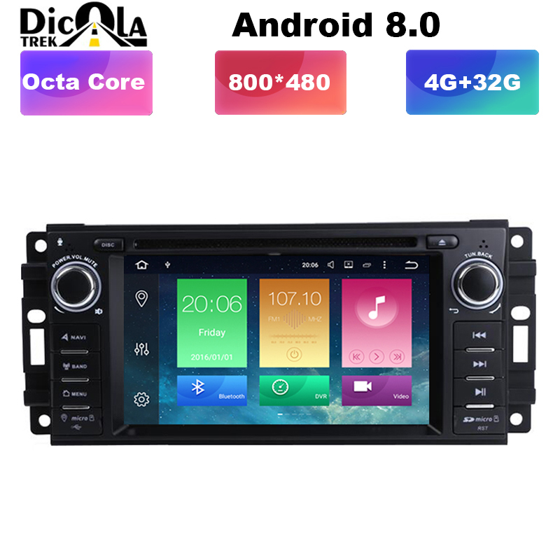 6 2 HD 2 din Car Radio Android 8 0 Car DVD Player For jeep Grand