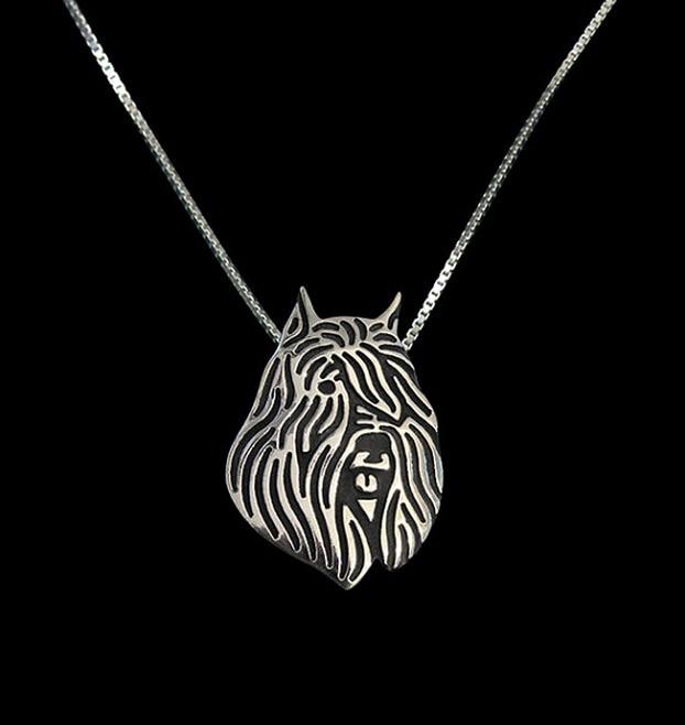 Fashion Bijoux Bouvier Des Flandres Necklace Choker 3D Cut Out Puppy Dog Lover Pendant Memorial Jewelry For Women Men Gifts