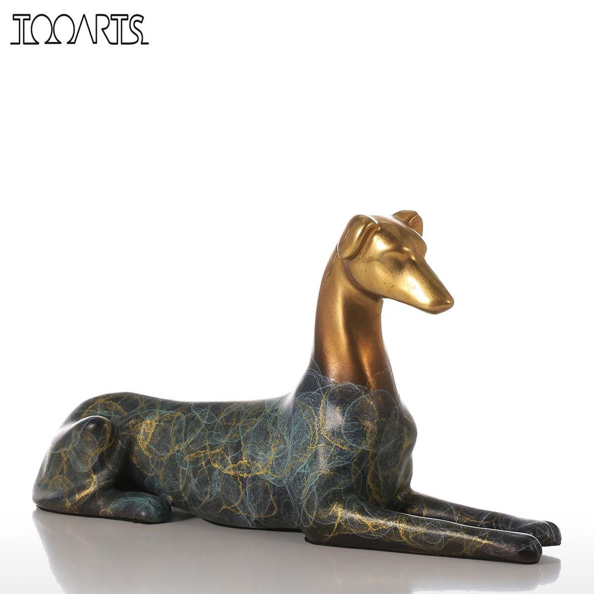 Tooarts Hound Dog Handmade Bronze Sculpture Modern Art
