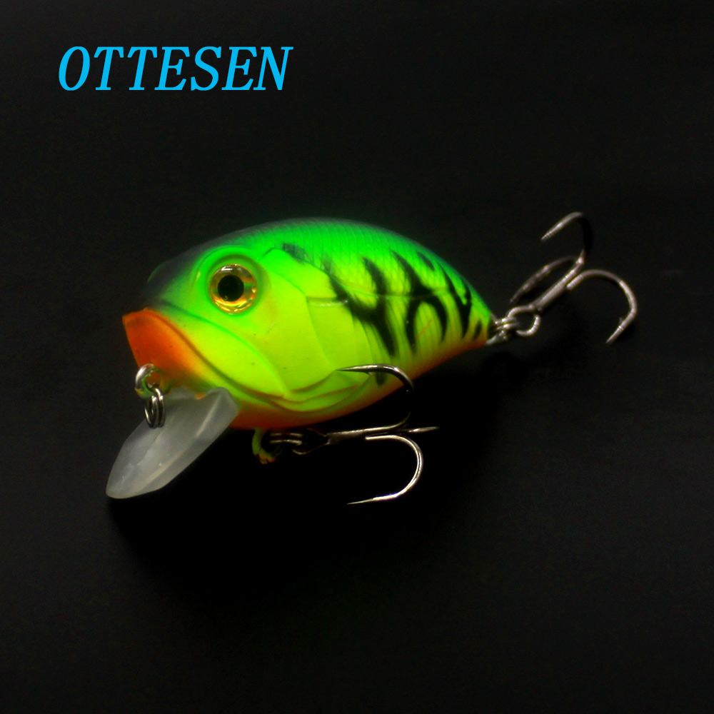 OTTESEN 1pcs/lot 38mm 7.9g crankbaits fishing lure isca artificial lures pesca peche wobblers fishing bait jerkbait bass fish crank bait plastic hard lures 38mm fishing baits crankbaits wobblers freshwater fish lure free shipment