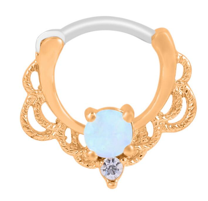 1pc Royal Septum OPAL Nose Ring Nose Piercing Ombligo Women Ear Tunnel Piercing Nombril Body Jewelry Pircing Tunnels
