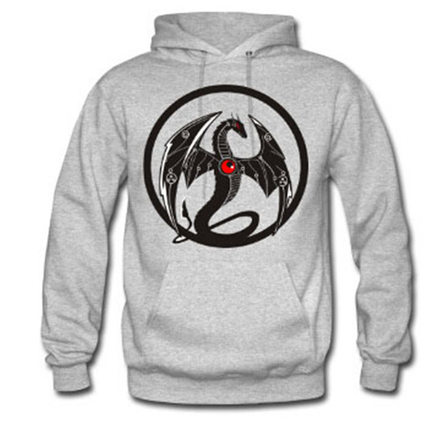 Aliexpress.com : Buy 2017 Winter Men Hoodies Cool Dragon Logo ...