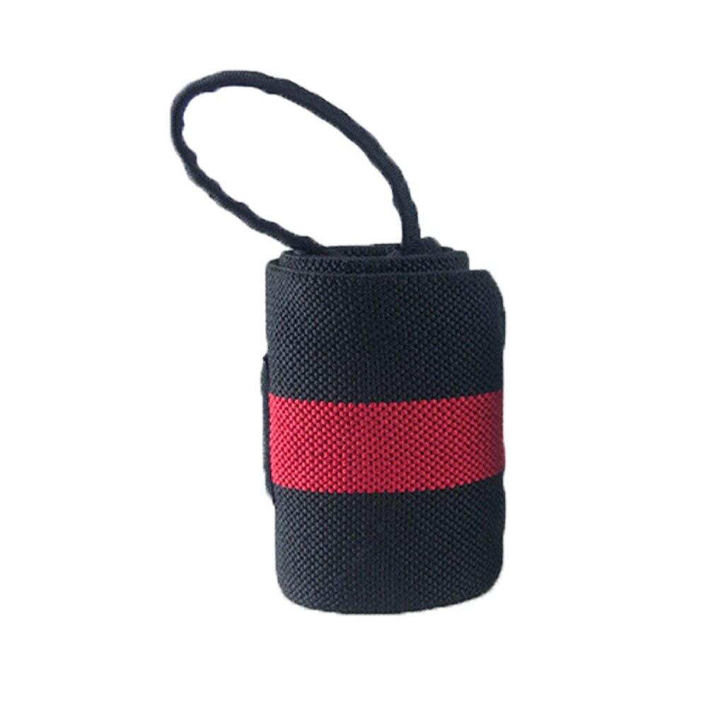 1 шт. вес для подъема кистевой ремень Фитнес Спорт бандаж регулируемая опора для запястья - Цвет: Красный