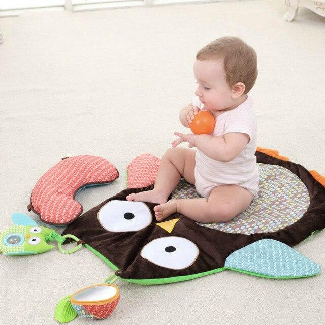 Детские Сова Стиль Одеяло Дети Играют Коврик Новорожденный Спальный восхождение игры мат Малыш