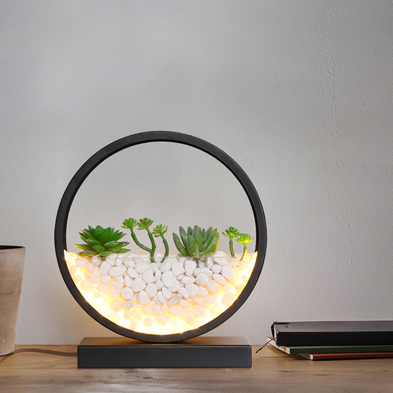 Bedroom Bedside led Desk Lamps Simple Office Work led Table Lamp Modern Living Room Study Table Lamp Circular Gift led Lighting