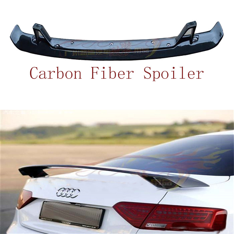 Carbon Fiber Spoiler For Audi TT A3 S3 RS3 A4 S4 RS4 A5 S5 RS5 A6 S6 A8 2009-2017 High Quality Wing Spoilers Auto Accessories